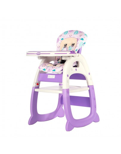 Evezo Merly Convertible Baby High Chair & Play Table 3 in 1
