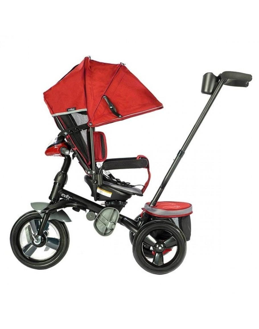 Evezo Maks 4-in-1 Stroller Trike with full canopy Blue
